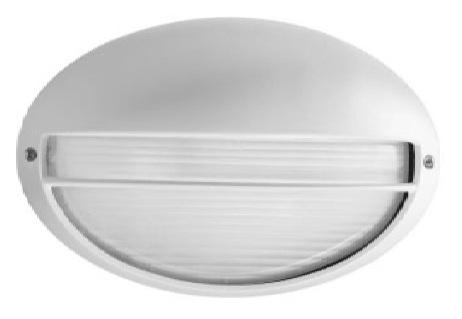Applique da esterno ovale cg bianco proiettori per esterno
